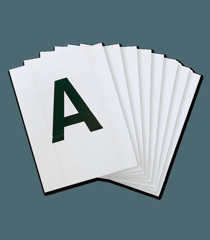 12 Lettres Sur Plaque Pvc Pour Carriere De Dressage 20 X 60 M