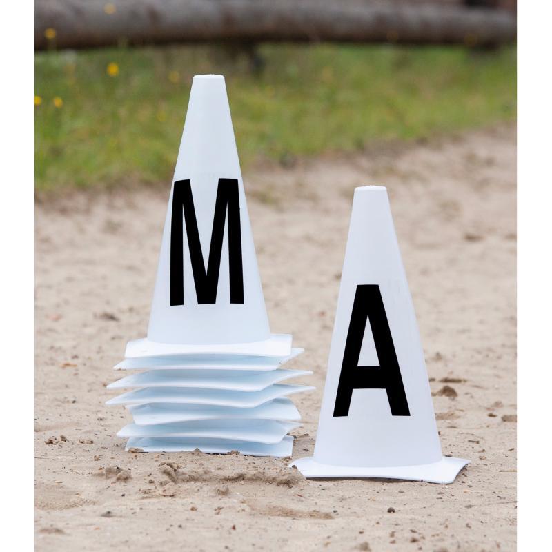 Jeu De 12 Cones Avec Lettres Pour Carriere De Dressage 20x60m