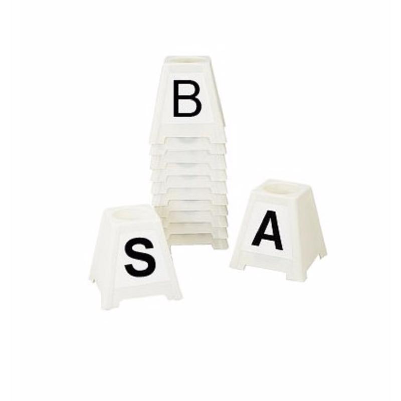 12 Lettres Adhesives Pour Plots Carres De Carriere Dressage