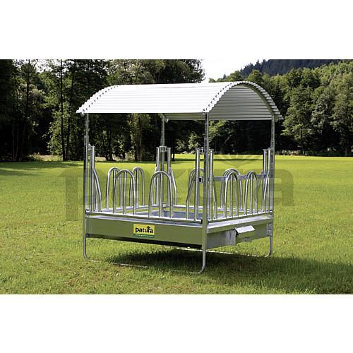 protection de toit pour r telier foin pro chevaux ou bovins. Black Bedroom Furniture Sets. Home Design Ideas