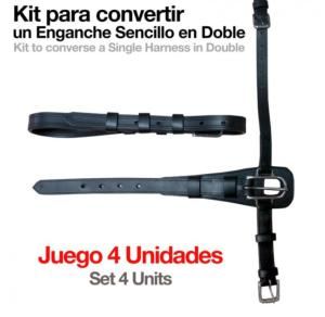 Kit de Conversion d'Harnais Attelage de SIMPLE à DOUBLE, ZALDI