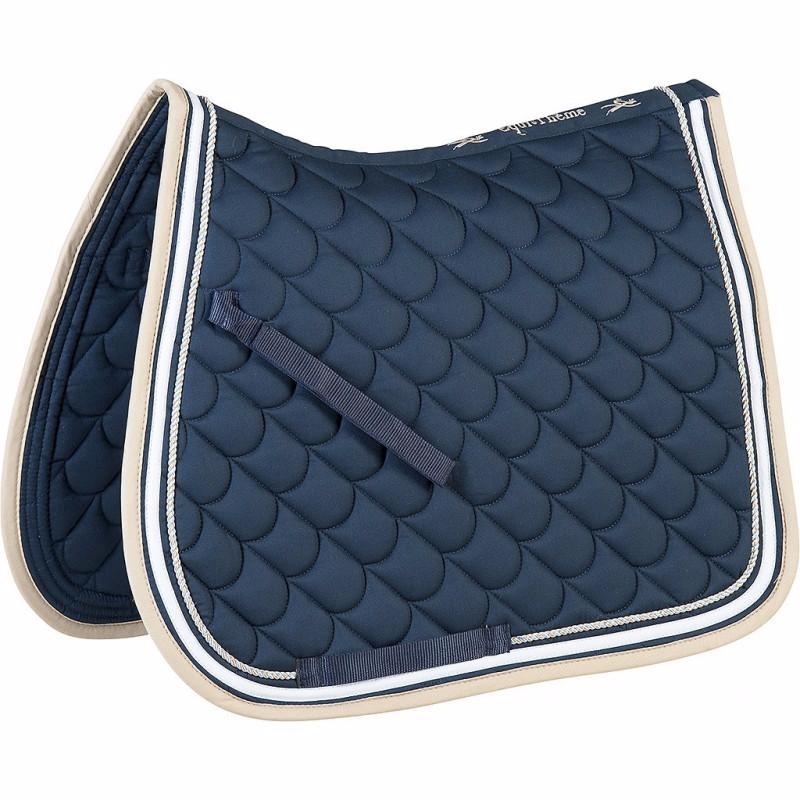 tapis de selle chabraque cheval matelass double cordelette equi th me nuage. Black Bedroom Furniture Sets. Home Design Ideas